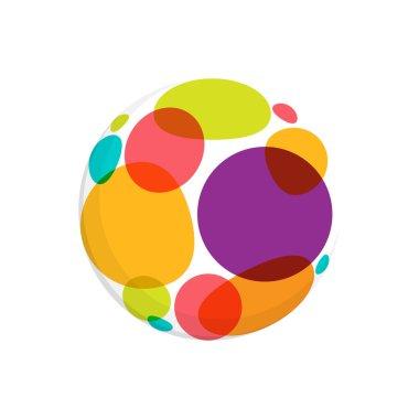 Abstract round dots logo