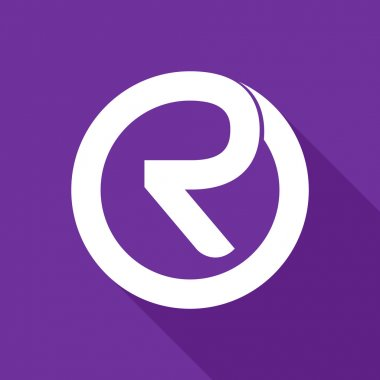 R letter line logo