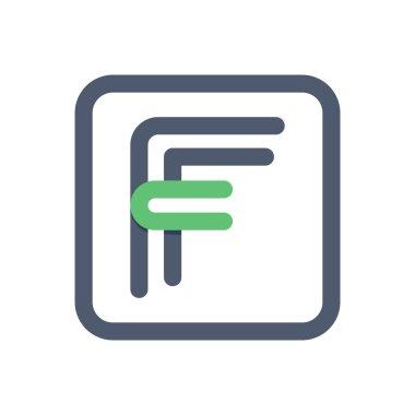 F letter crossing lines logo