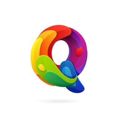 Q letter volume logo