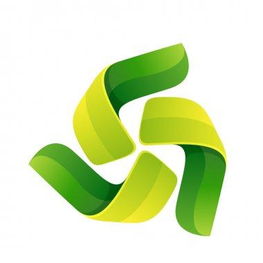 Abstract triangle rotation logo
