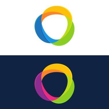 Abstract circle logo set