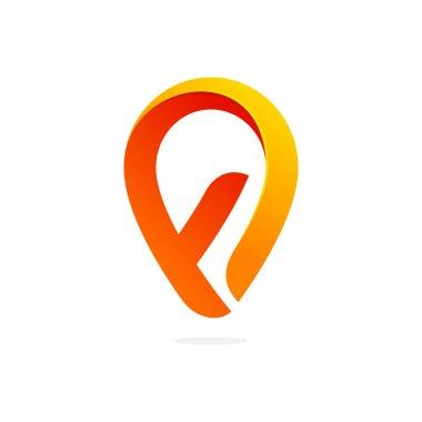 F letter line logo
