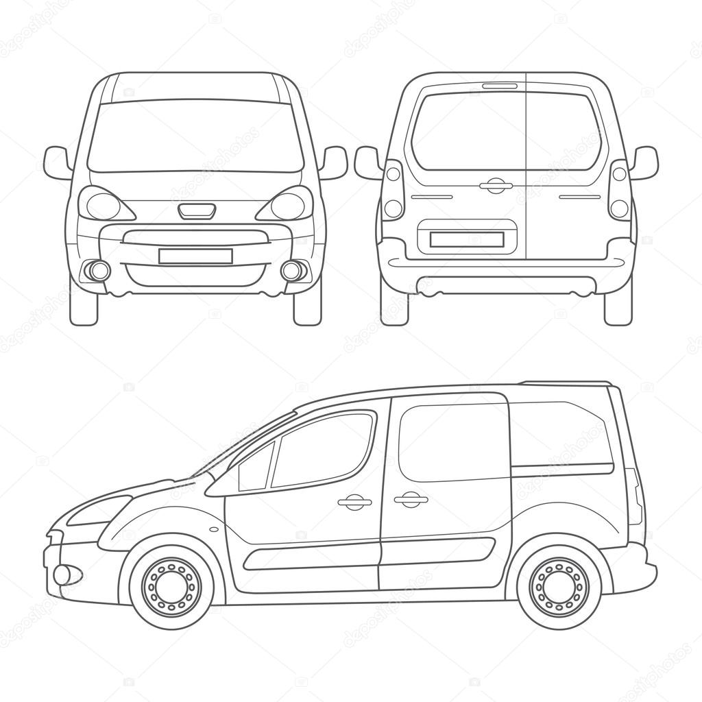 Auto Skizze Set — Stockvektor © kaer_dstock #75676013