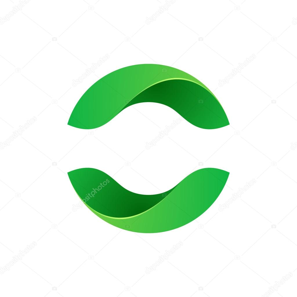 Abstract sphere eco green logo