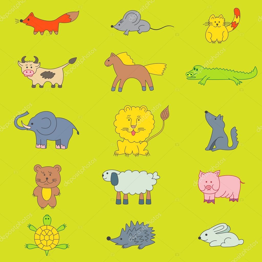Animali Disegno Per Bambini Vettoriali Stock Kaer Dstock 75676071
