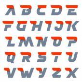 Fotografie Fast speed english alphabet letters.