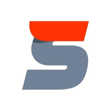 S letter logo design template