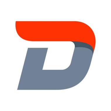 D letter logo design template