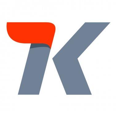 K letter logo design template