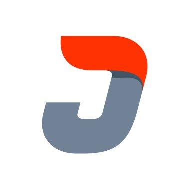 J letter logo design template.