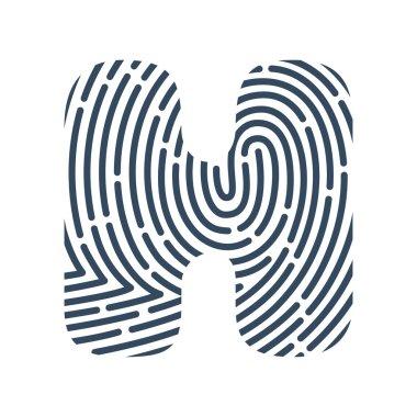 H letter line logo.