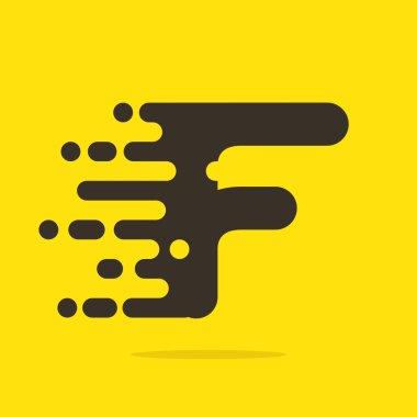 F letter logo design template.