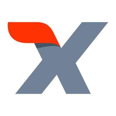 X letter logo design template.