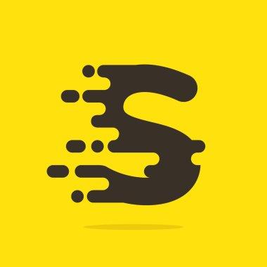 S letter logo design template.