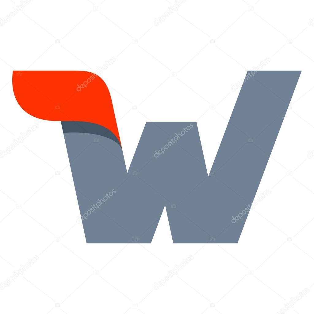 W letter logo design template.