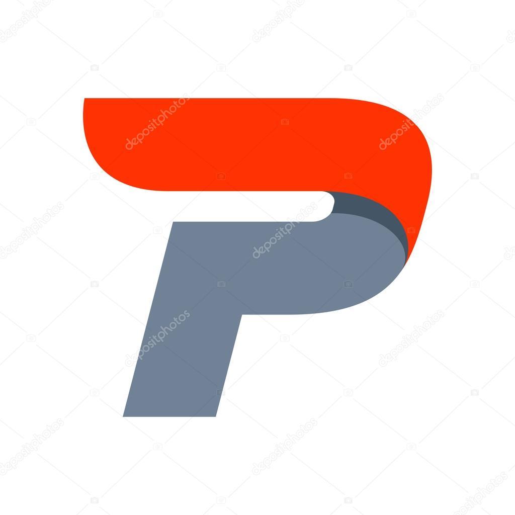 P Letter Logo Design Template Stock Vector