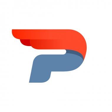 Design template P letter