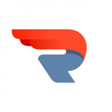 Design template R letter