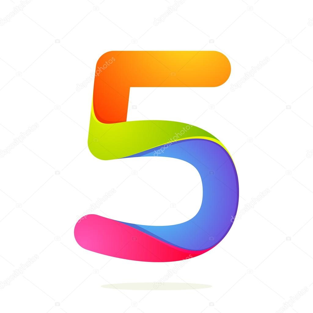 Number 5 Design Template Stock Vector 169 Kaer Dstock