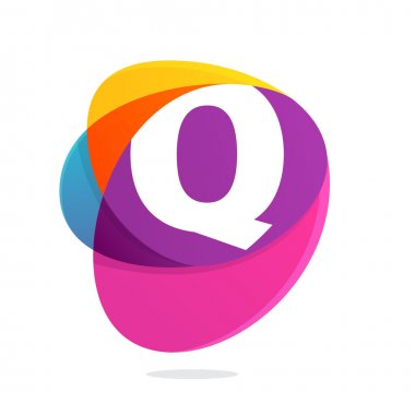 Q letter with ellipses intersection