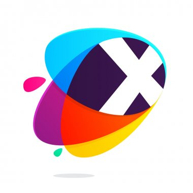 X letter with ellipses intersection