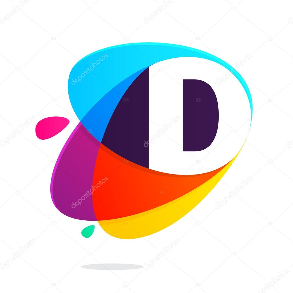 D letter with ellipses intersection
