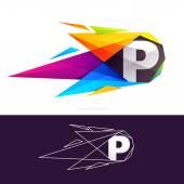 Fotografie P letter logo