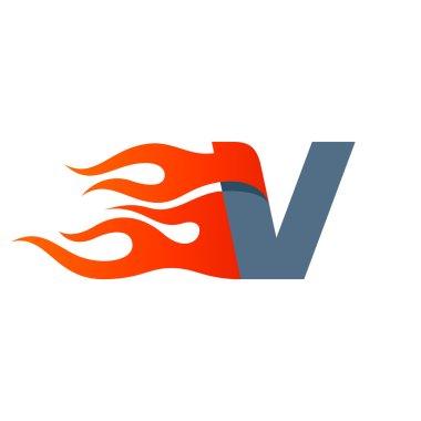 V letter template element
