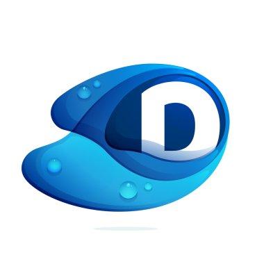 D letter template element