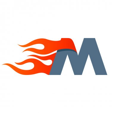 M letter template element