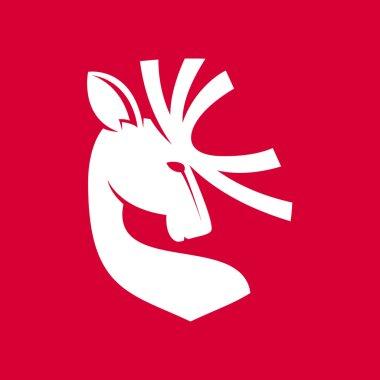 Heraldic deer  emblem