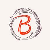Fotografie B letter monogram design elements.