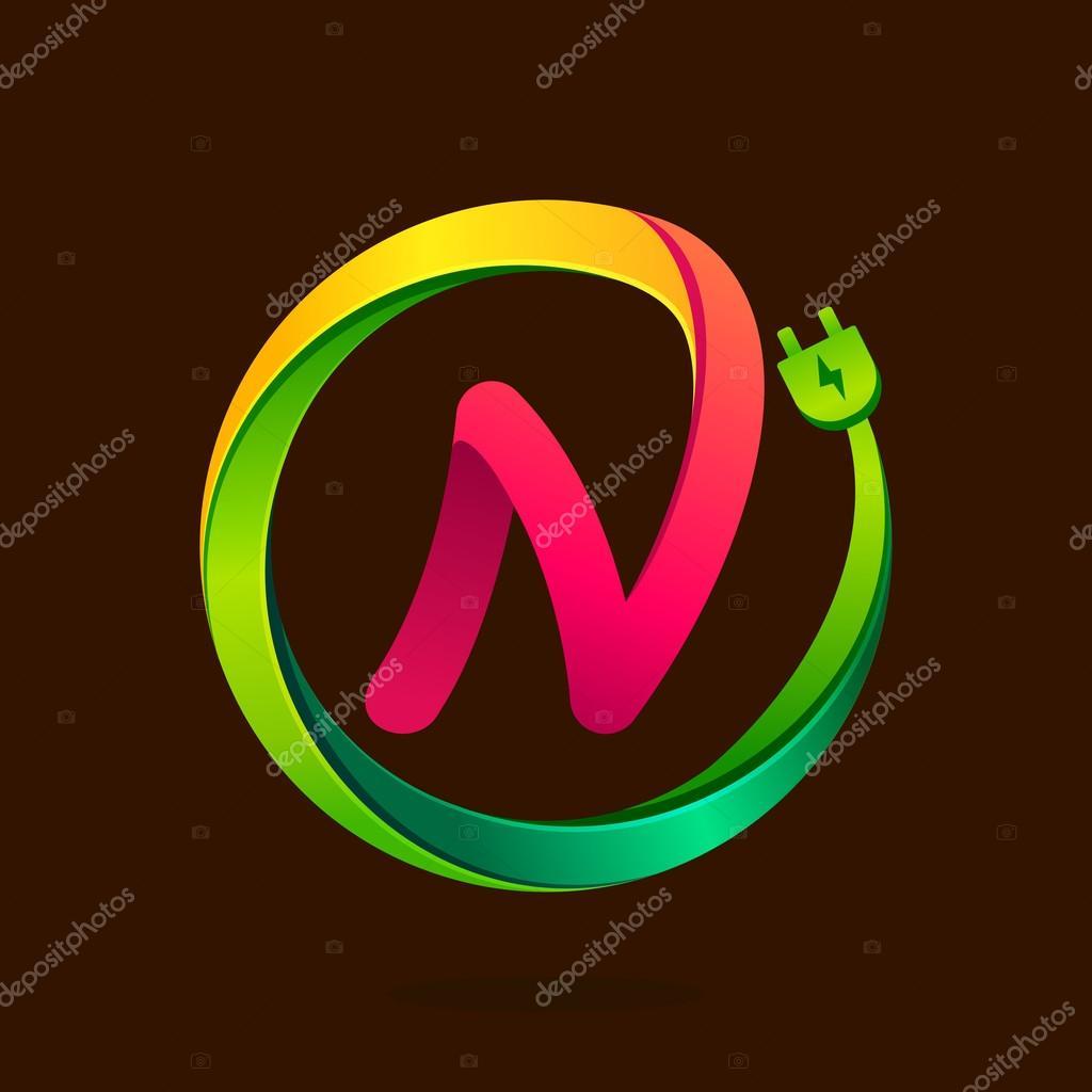 N Brief mit Draht Stecker Symbol — Stockvektor © kaer_dstock #88800012