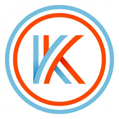 K letter design template