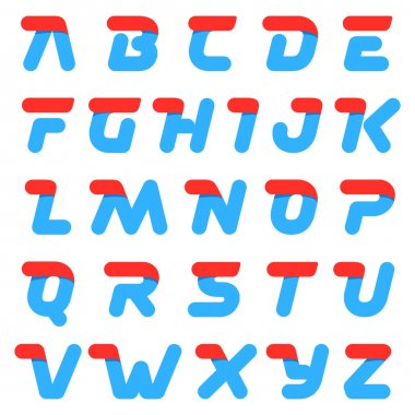 Fast speed alphabet round letters.