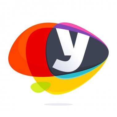 Y letter with ellipses intersection logo.