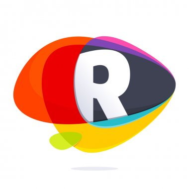 R letter with ellipses intersection logo.