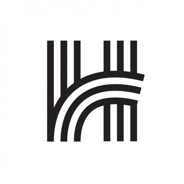 H letter formed by parallel lines.