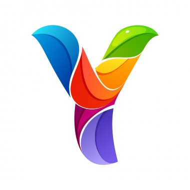 Y letter logo formed by twisted lines.