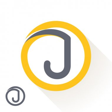 J letter with round line logo