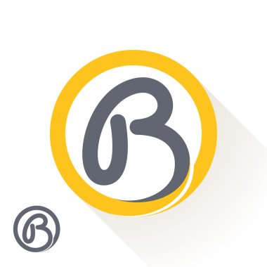 B letter with round line logo