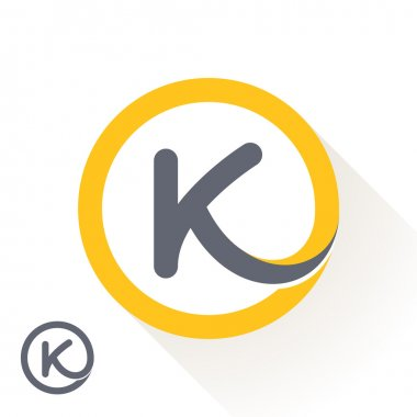 K letter with round line logo
