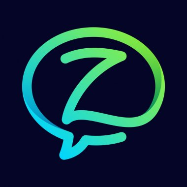 Z letter with speech bubble