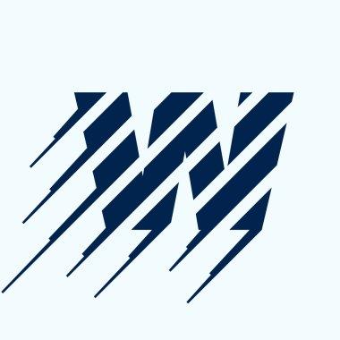 W letter logo design template