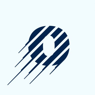 O letter logo design template