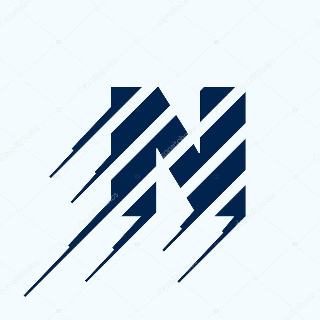 N letter logo design template — Stock Vector © kaer_dstock ...