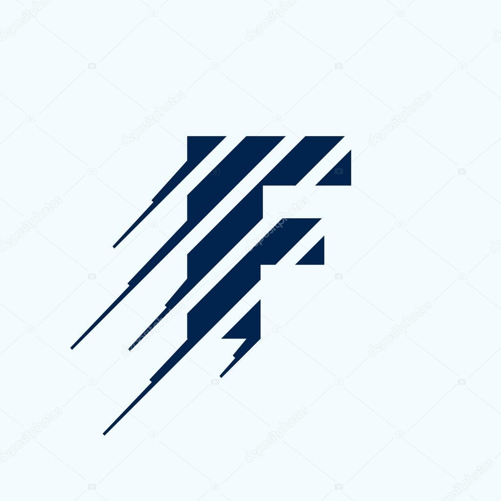f letter logo design template � stock vector 169 kaerdstock