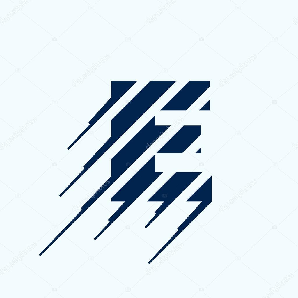 e letter logo design template stock vector kaer dstock 93070602
