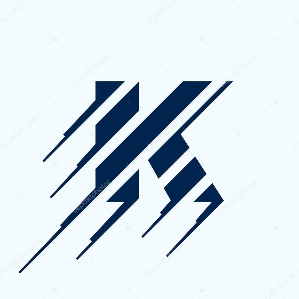 K Brief Logo Design Vorlage Stockvektor C Kaer Dstock